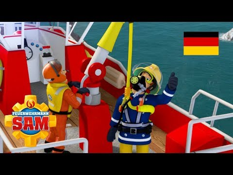 Feuerwehrmann Sam Deutsch Neue Folgen   Ein Ausflug ins Wasser - Megawellen 🚒Kinderfilme
