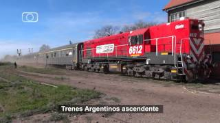preview picture of video 'Tren de Trenes Argentinos entrando a Realicó'