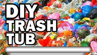 Filling Our Bathtub with Garbage - Man Vs Moving