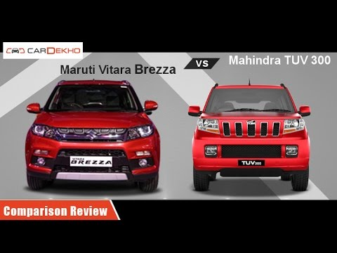 Maruti Vitara Brezza vs Mahindra TUV3OO | Comparison Review