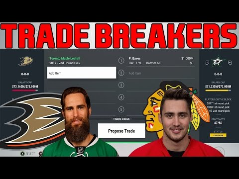 Trade Breakers: NHL 17 Trade Simulation. Eaves, Jurco Trades