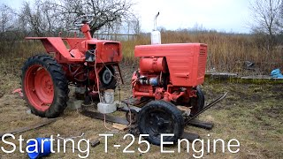 Starting Tractor T-25 Engine (1080p)