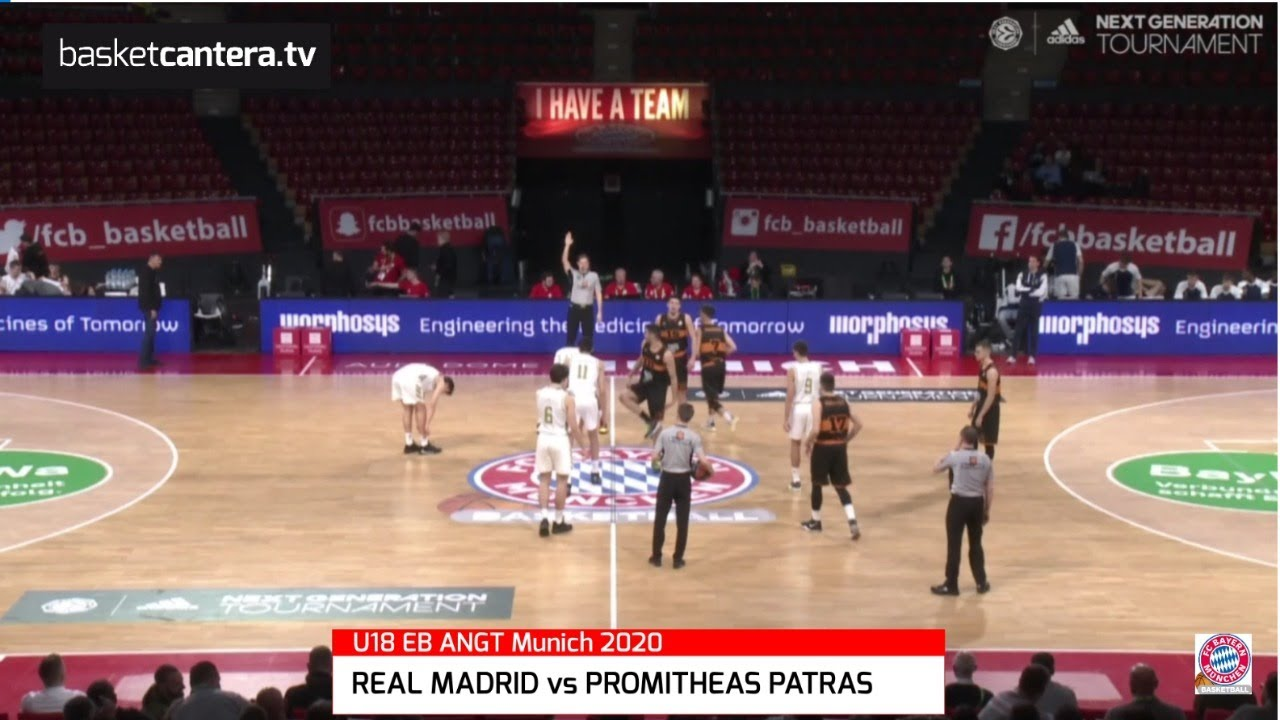 U18M - REAL MADRID vs PROMITHEAS PATRAS. Euroleague. Adidas Next Generation Tournament (Munich 2020)