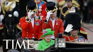 Trooping The Colour Parade To Mark The Queen's Official Birthday & Other Celebrations   TIME