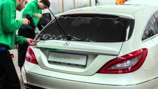 preview picture of video 'Scheibentönung Scheibentönen Mercedes CLS'
