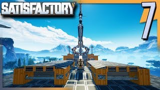 SETTING UP STORAGE IN THE CENTRAL HUB! Satisfactory Gameplay/Let's Play E7