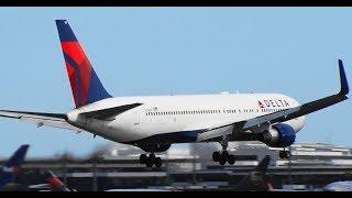 ✈✈デルタ航空シアトル行き166便エンジンが過熱成田空港に緊急着陸のBoeing767-332/ER同型機