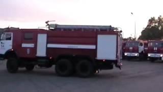 Отправка пожарной техники и личного состава ОФПС-15 по РТ в Казань/