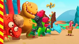 Мультик про доброго динозавра. Первобытные люди нападают на динозавром Мультики про битву и сражения