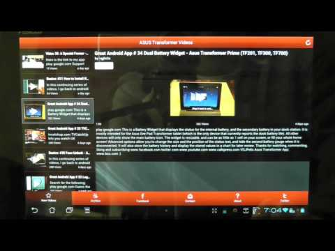 Video of Nexus 7 and Transformer Videos