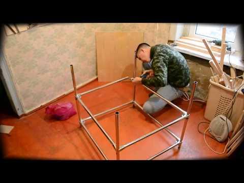 Стол из фанеры и металла