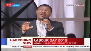 Hon Moses Wetangula's speech during 2019 Labour Day Celebration