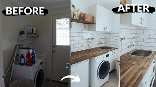 DIY LAUNDRY ROOM MAKEOVER [ON A BUDGET]