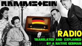 RAMMSTEIN   RADIO 🔥 English Lyrics Translation, Review & First Listen Interpretation By A German