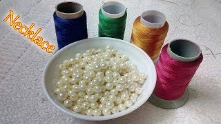DIY | Handmade Necklace Ideas | How To Make Silk Thread Necklace At Home | DiyArtiePie