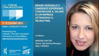Youtube: Digital Talk | BRAND AZIENDALE E CANDIDATE EXPERIENCE. COMUNICARE IL VALORE DI UN'IMPRESA ATTRAVERSO IL RECRUITING | Forum Comunicazione 2021