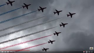 Red Arrows - Rare Rolling Show Takeoff to Landing! - Filmed during the USA Tour