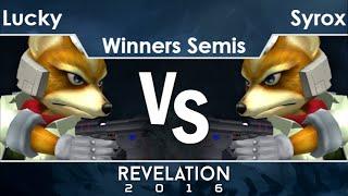Rev2016  - Selfless   Lucky (Fox) vs Syrox (Fox) Winners Semis - Melee