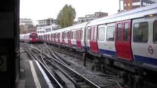 preview picture of video 'London Underground S Stock 21011 and 21012 arriving into Harrow on the Hill'