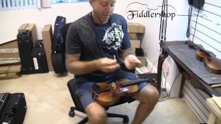 Ask A Luthier   Fallen Violin Sound Post   How To Fix It?