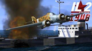 Full IL-2 1946 mission: SM.79 Torpedo Attack on British Convoy