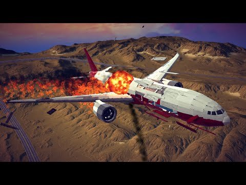 Boeing 777x Shot Down by Four Different Weapons   Besiege