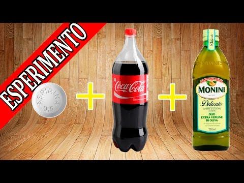 ESPERIMENTI PER BAMBINI DI SCIENZE - coca cola , olio e pasticche - quale reazione si scatenerà?!