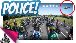 Gambar cover Police Helicopter vs 100+ Honda Groms!
