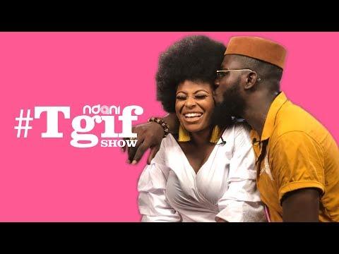 Ronke Raji and her beau, Arthur Adeola on the NdaniTGIFShow
