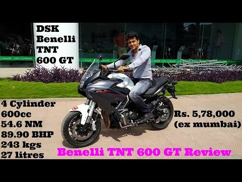 Benelli TNT 600 GT Review | exhaust note | 2015