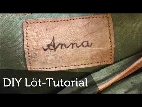 Tutorial - Wie kann ich richtig löten? | Individualisieren | Signatur | Geschenk | DIY | Gusti Leder
