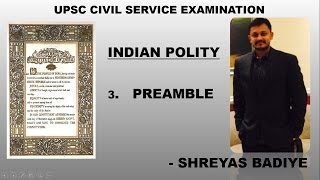UPSC IAS preparation | Indian Polity by Laxmikant | Preamble of Indian Constitution