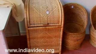 Beautiful artifacts of Bamboo at Dilli Haat
