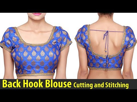 Back Hook Blouse Cutting and Stitching | Back Open Blouse | Back Button Blouse Tailoring Class