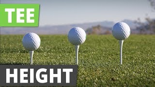 How To TEE UP A Golf Ball | Best Tee Height For Driver