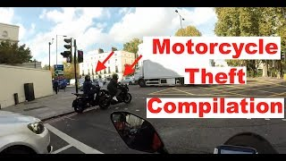Motorcycle Theft Compilation | Bikers Chase Motorcycle Thieves