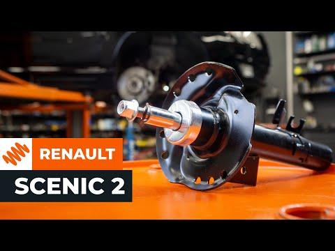 Cómo cambiar las juego de base de soporte del amortiguador RENAULT SCENIC 2 Tutorial | Autodoc