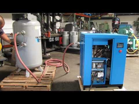 New HWH 10 HP Rotary Screw Air Compressor 38.8 CFM