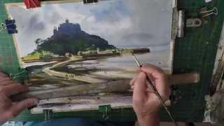Easy Landscape , Seascape Watercolour Painting Part 2