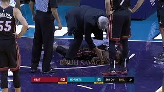 Derrick Jones Jr Breaks His Shoulder After Scary Fall!(Terrifying Injury)