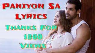 Atif Aslam | Paniyon Sa Bahta Rahoo Lyrics - YouTube