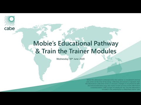 Mobie's Education Pathway & Train the Trainer Modules