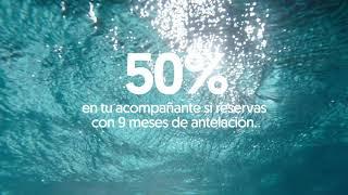 Pullmantur No dejes pasar más tiempo 50% en tu acompañante si reservas con 9 meses de antelación anuncio