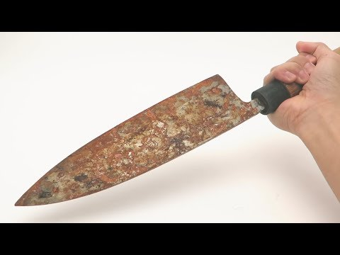 How a Rusted Old Knife is Restored