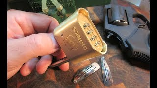 Hair Clip Bypass Tool Unlocks BRINKS  PROMAX SECURITY COMBINATION PADLOCK