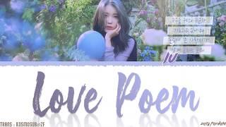 IU (아이유)   'LOVE POEM' (러브 포엠) Lyrics [Color Coded_Han_Rom_Eng]