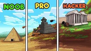Minecraft - HACKER REBUILDS ANCIENT ROME! (NOOB vs PRO vs HACKER)