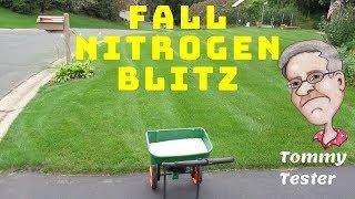 Fall Nitrogen Blitz | Lawn Fertilizing MATH |  Greenest lawn come Spring