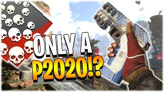 ONLY USING A P2020 THE ENTIRE GAME.. INSANE!! (Apex Legends PS4)