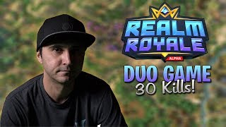 Summit1g PLAYS DUO w/ Ninja! - Win with 30 Kills! ( Realm Royale Funny Moments)